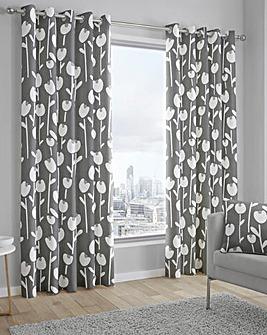 Fusion Albar Printed Eyelet Curtain