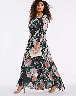 Joanna Hope Floral Print Wrap Dress