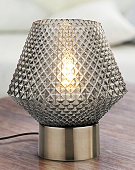 Mia Smokey Glass Table Lamp