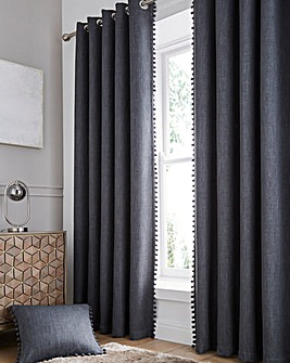 Palos Pom Pom Blackout Thermal Eyelet Curtains