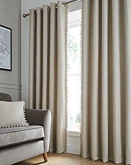 Palos Pom Pom Blackout Eyelet Curtains