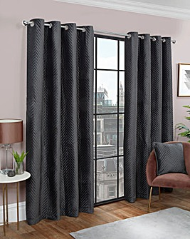 Nova Chevron Pinsonic Eyelet Curtain