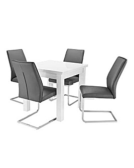 Halo High Gloss Table 4 Atlanta Chairs