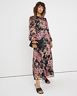 Joanna Hope Floral Print Midi Dress