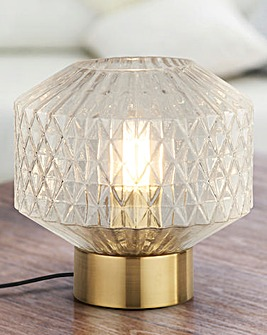 Freya Clear Glass Table Lamp
