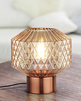 Freya Amber Glass Table Lamp