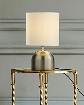 Georgia Satin Silver & White Touch Lamp