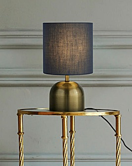 Georgia Satin Brass & Blue Touch Lamp