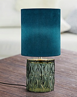 Hague Green Glass Table Lamp