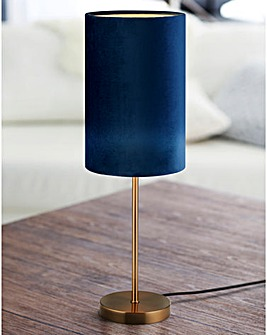 Rimini Blue Velvet Table Lamp