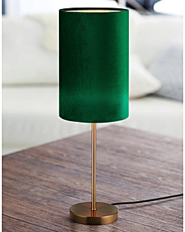 Rimini Green Velvet Table Lamp