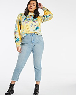 Joanna Hope Key Hole Floral Blouse