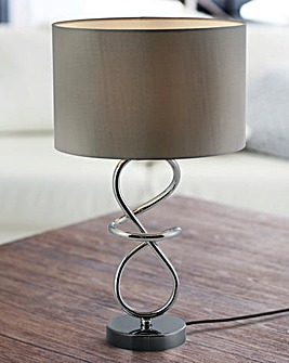 Chrome Twist Table Lamp