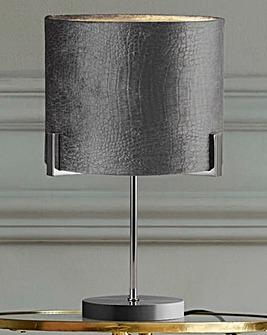 Harley Grey Velvet Table Lamp