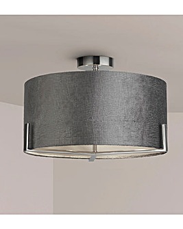 Harley Grey Velvet Ceiling Fitting
