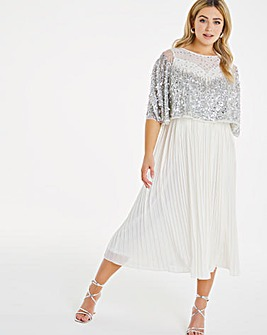 Joanna Hope Sequin Pleated Dress