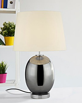 Ada Smokey Glass Table Lamp