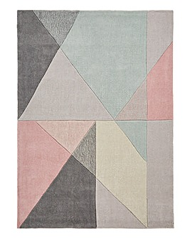 Trio Triangles Hand Tufted Rug Large