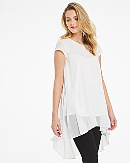 Joanna Hope Contrast Sequin Blouse