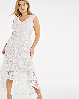 Joanna Hope Dip Hem Lace Dress