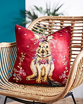 Joe Browns Floral Rabbit Cushion