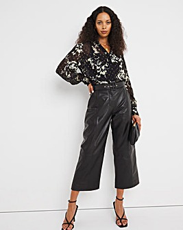 Jo Leather Belted Trouser