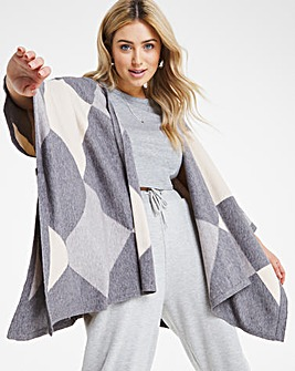 Joanna Hope Block Colour Poncho