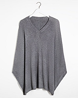 Joanna Hope v-Neck Hot Fix Poncho
