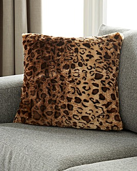 Leopard Faux Fur Cushion