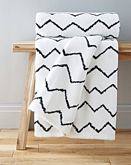 Berber Printed Cuddly Fleece Throw