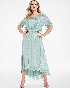 Joanna Hope Hi Low Sequin Dress