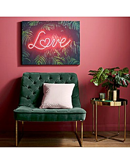 Tropical Neon Love Wall Art