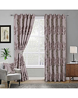 Blakely Leaf Jaquard Eyelet Curtains