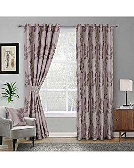 Blakely Leaf Jaquard Eyelet Curtains