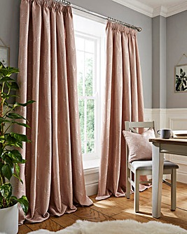 Charleston Deco Jacquard Pencil Pleat Curtains
