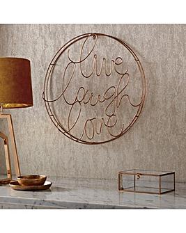 Live Laugh Love Circular Wall Art