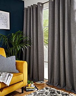 Spencer Brushed Blackout Eyelet Curtain