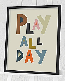 Nicola Evans Play All Day Wall Art