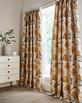 Ella Floral Jacquard Pencil Pleat Curtains