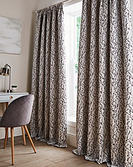Willow Floral Jacquard Pencil Pleat Curtains