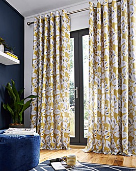 Catherine Lansfield Inga Leaf Curtain