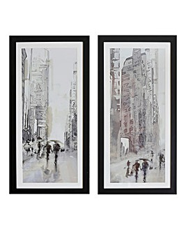 Set of 2 Stretch Street Scenes