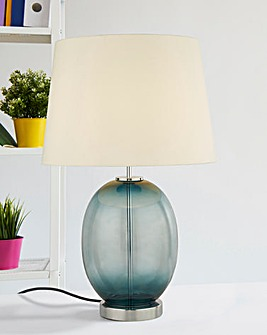 Ada Teal Glass Table Lamp
