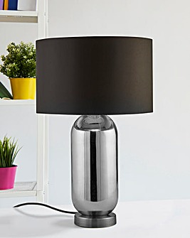 Darcy Chrome Glass Table Lamp