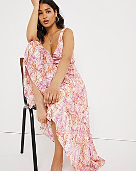 Joanna Hope Printed Tiered Maxi Dress