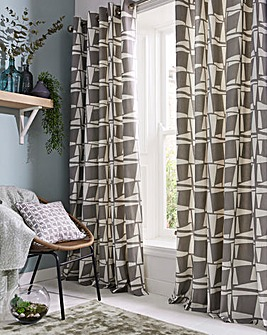 Fusion Capella Geo Eyelet Curtain