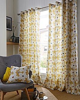 Fusion Aura Retro Floral Eyelet Curtain