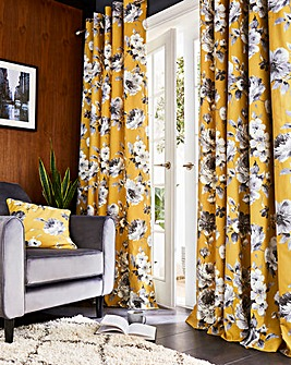 Fusion Charity Floral Print Eyelet Curtain