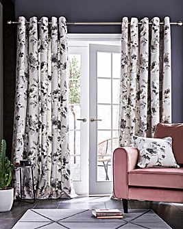 Fusion Charity Floral Eyelet Curtain