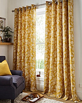 furn. Country Woodland Printed Eyelet Curtain